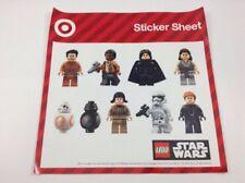 Star Wars The Last Jedi Target Sticker Sheet Lego Star Wars Rey Kylo Ren BB-8