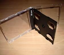 10 CD Hüllen durchsichtig / schwarz f 2 CDs DVDs 2fach Maxi Breite 10mm 1cm Neu