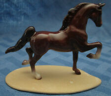 Hagen Renaker Miniature, Saddlebred Horse, on base, retired, #2013, Made in Usa