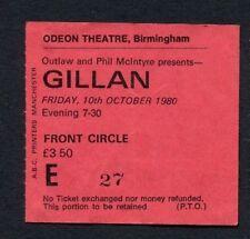 1980 Ian Gillan of Deep Purple concert ticket stub Odeon Birmingham UK
