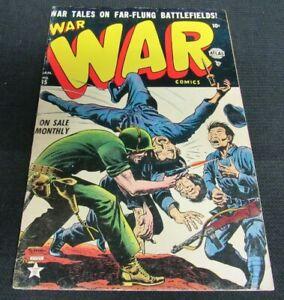 War Comics #15 (1953) Golden Age Atlas Comics Violent Cover VG+ 4.0-4.5 JM83