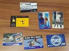 7 verschiedene Telefonkarten Aufladekarten Sammler