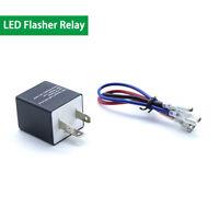 3-Pin Car Flasher Relay Electronic LED Light Turn Signal Flash Speed Adjustable