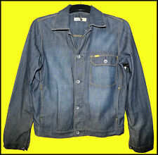"Mens Caterpillar Indigo Blue Denim Jacket Size : small....42"" chest max."