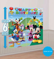 Mickey Mouse Party Supplies SCENE SETTER Wall Decorating Kit Backdrop