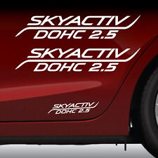 Mazda 3 graphic 2X decal sticker vinyl Skyactiv 2.5 fits Mazda 6 *WHITE