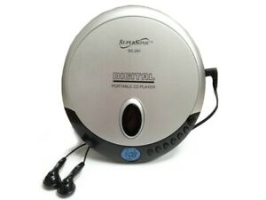 Supersonic SC-251 Portable Personal Slim CD Player Free Stereo Headphones
