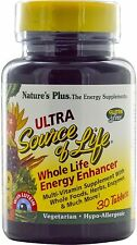 Ultra Source of Life with Lutein, Nature's Plus, 30