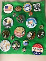 Vintage Alaska Fur Rendezvous Pins 1976-1987 20 Pins