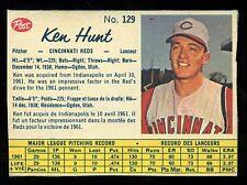 1962 POST BASEBALL CANADIAN #129 KEN HUNT EX+ CINCINNATI REDS CARD