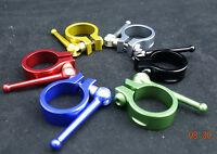 J&L Titanium Axle QR/Quick Release Seatpost clamp/Collar-31.8MM/34.9MM-23g-Ti