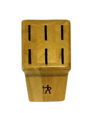 New listing J.A. Henckels Cutlery Empty Wooden Knife Block - 6 Slots