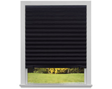"""Original Blackout Pleated Paper Shade Black, 48"""" x 72"""", Pack of 6"""