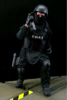 "1/6 SWAT Military Army Suit Soldier 12"" Action Figure SWAT Black Uniform Model"