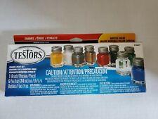 Testors 9146XT Enamel Paint Set Kit Thinner Brush New