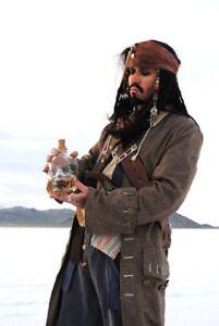 Exact JACK SPARROW COAT Pirate Costume jacket M/L/XL