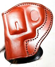 Tagua Left Brown LEATHER paddle Holster fits Smith & Wesson S&W J frame 640 642