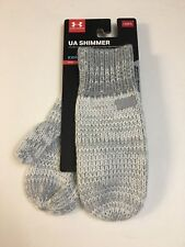 Under Armour ColdGear Shimmer Knit Youth Girls Mittens Osfm - New