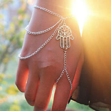 Sklavenarmband Armband Ring Handschmuck Hamsa Hand  Armband Bollywood Hochzeit