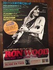 Ron Wood Rolling Stones Japan CONCERT TOUR FLYER /HANDBILL 1993