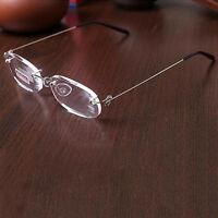 New 1.0 To 4.0 Lens Reading Glasses Lightweight Rimless Reading Glasses