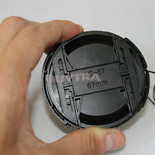 67mm Center Pinch Snap on Front Cap For Sony Canon Nikon Lens Filters 67mm -h