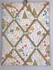 Hand Made Fabric Notice Board Woodland Fabric