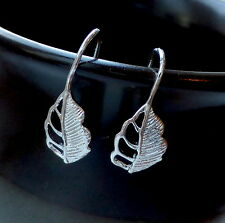 10 pcs Silver tone Earrings Component, earring hook, earhook, leaf