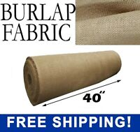 """Burlap Fabric Natural - 40"""" Wide - Sold By The Yard - Free Shipping!!"""
