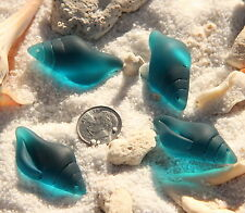 Large Conch Shell Pendant Bead, Teal w/Sea Glass Finish, 39x20mm, 1 Pcs.