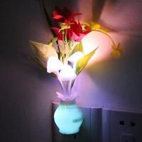 Creative Lamp Flower Vase LED Sensor Night Light Bed Wall Lamp Home Illumination