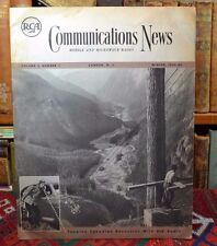 Communications News Mobile Microwave RCA Radio Canadian Resources Winter 1952