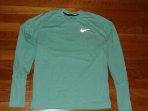 NIKE DRI-FIT LONG SLEEVE POLYESTER/SPANDEX RUNNING TOP WOMENS XS EXCELLENT