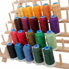 RAYON MACHINE EMBROIDERY THREAD SET 20 BRIGHT COLORS - 1000M CONES - 40WT