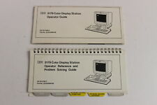 IBM 3179 COLOR DISPLAY STATION OPERATOR GUIDE &  REFERENCE AND PROBLEM SOLVING
