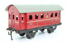 Blechspielzeug Spur 0 Fleischmann Personenwagen rot US-Zone antik GUT