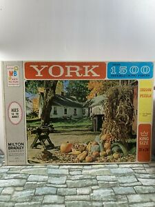 MB Puzzle - York - 1963 - New England Autumn - 1500+ Pieces - Sealed/Unopened