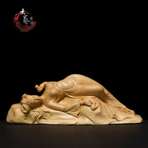 Boxwood Wood Carving Yang Guifei Statue Figure Sculpture Collection New Craft