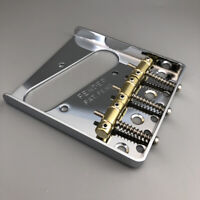 Vintage Brass Saddle Chrome Guitar Bridge For Fender Telecaster Guitar