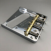 Vintage Telecaster Guitar Bridge Brass Saddle Chrome Fender