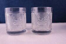 Ralph Lauren Argyle Safari Logo Lead Crystal 2 Double Old Fashion Glasses