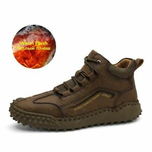 Nuevas botas zapatos para hombres trabajo de invierno nieve cálidos modernos 8