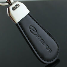 Auto Car LOGO Drop Shape Leather Keychain KeyRing key chain Fob Fit for Black
