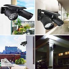 Outdoor 14 LED Dual Head Lamp Beads Solar Power PIR Motion Sensor Security Light