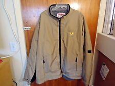 """Mens """" NOS """" International N.A.P.T. Beige & Black Size 2 XL Wind Breaker Jacket"""