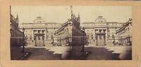 Parigi Palais Da Justice Stereo Vintage Albumina Ca 1860