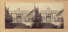 Paris Palais de Justice Stéréo Vintage Albumine ca 1860
