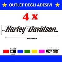 offerta 4 adesivi stickers moto scritta harley davidson serbatoio colori scelta