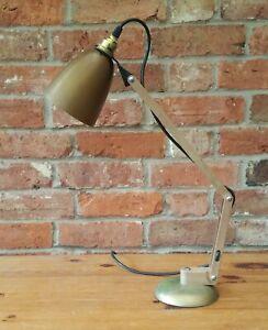 Vintage Adjustable Wood Effect Desk Lamp/Light REWIRED & PAT Tested