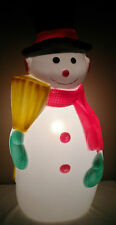 "VINTAGE TPI LARGE 41"" TALL SNOW MAN FROSTY BLOW MOLD CHRISTMAS HOLIDAY LIGHTUP"